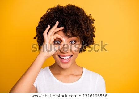 Asombroso feliz mujer hermosa comprador productos imagen Foto stock © deandrobot
