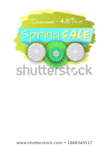 Spring Sale Discount 45 Percent Lower Price Poster Stock photo © robuart