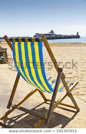 одиноко синий палуба Председатель пирс конец Сток-фото © nito