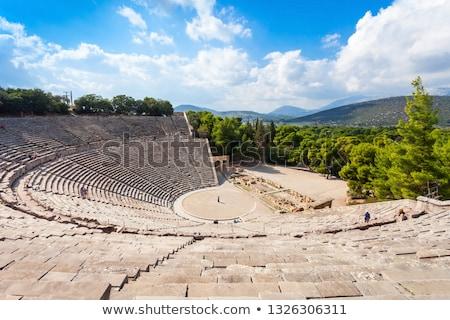 Griekenland theater theater architectuur trap Stockfoto © borisb17