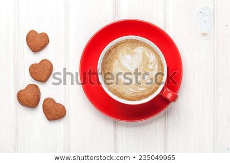 赤 コーヒーカップ 先頭 表示 コピースペース コーヒー ストックフォト © karandaev