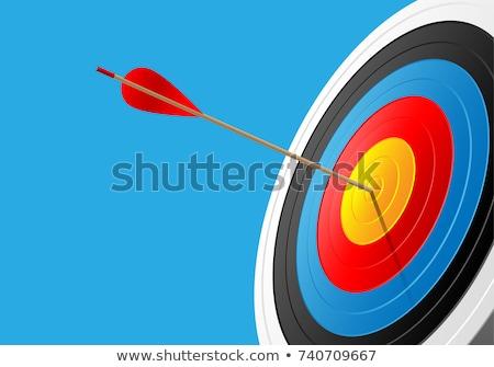 vetor · vermelho · dardo · seta · alvo · centro - foto stock © robuart
