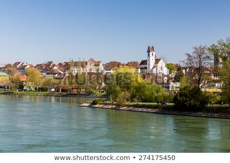 Straat Zwitserland historisch huizen oude binnenstad gebouw Stockfoto © borisb17