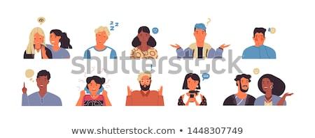 Młodych ludzi odizolowany biały wektora cartoon Zdjęcia stock © robuart