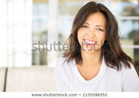 этнических женщину элегантный бизнеса одежды позируют Сток-фото © nyul