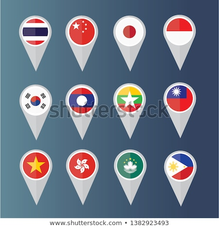 thailand flat icons set stock photo © netkov1