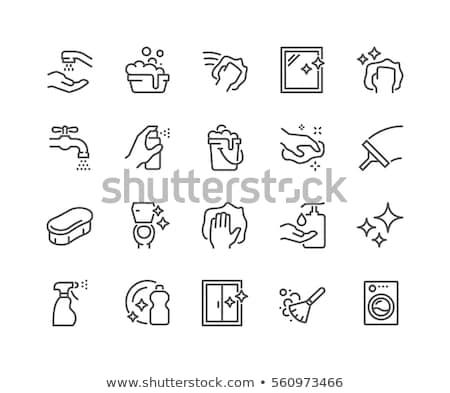 Laundry Service Machine Vector Thin Line Icon Stock photo © pikepicture