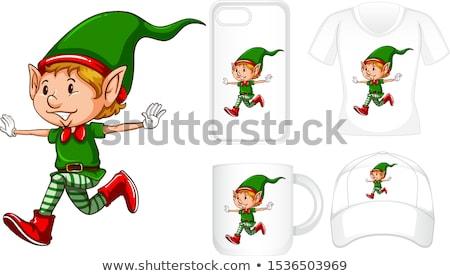 Grafisch ontwerp verschillend producten christmas elf illustratie Stockfoto © bluering