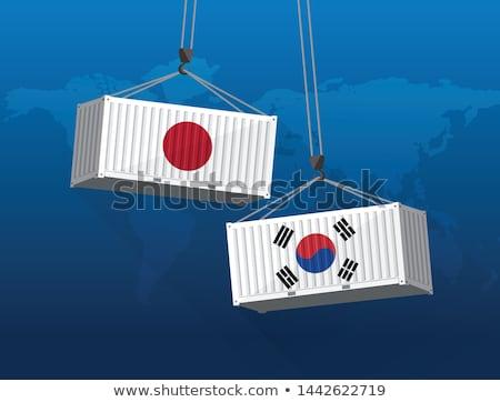 韓国 · 日本 · 経済の · 貿易 · 紛争 - ストックフォト © lightsource
