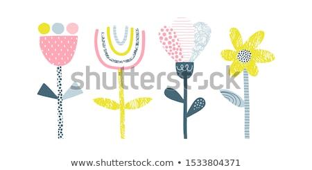 Cartoon цветок болван вектора изолированный завода Сток-фото © robuart