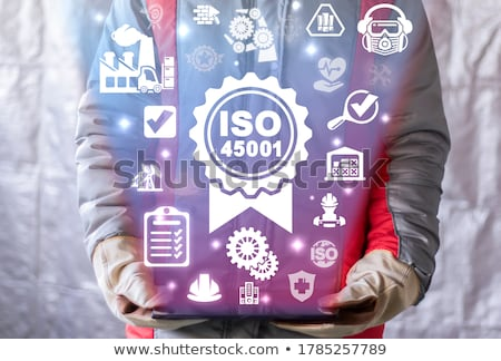 ISO 45001 stamp sign - occupational health and safety standard Stock photo © Winner