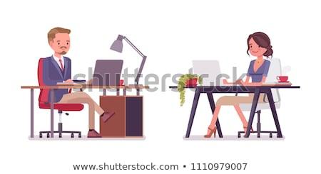 человек · работу · современных · иллюстрация - Сток-фото © robuart