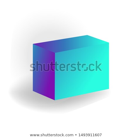 parallelepiped - One 3D geometric shape with holographic gradient isolated on white background vecto Stock photo © MarySan