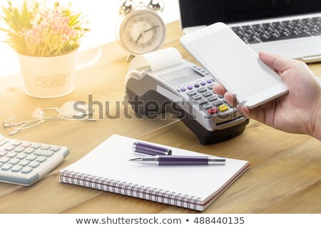 Payment Successful On Mobilephone Screen With Credit Cards Stock photo © AndreyPopov