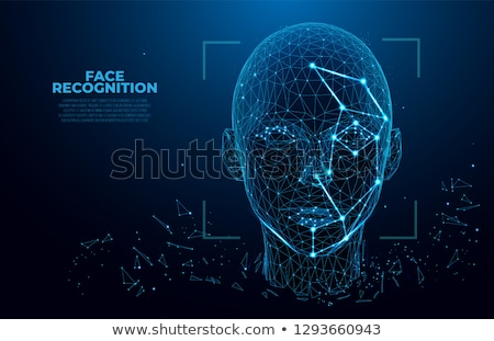 Cara reconhecimento computador homem segurança Foto stock © ra2studio