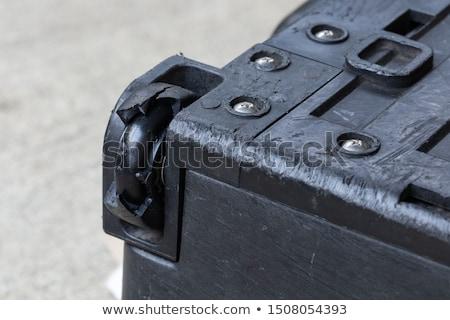 damaged rubber bearing luggage wheel stock photo © smuay