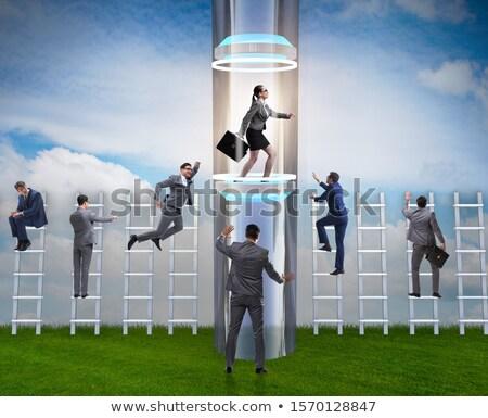 Mujer de negocios rápido promoción ejecutivo empresarial empresa Foto stock © Elnur
