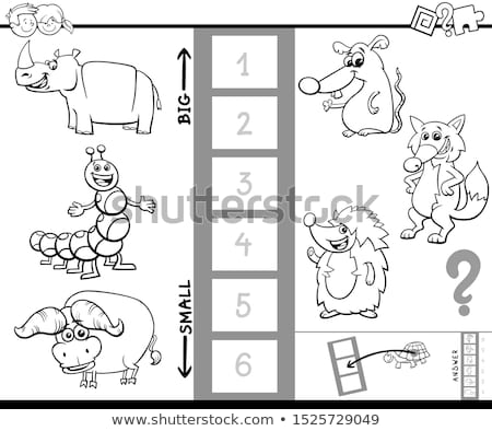 find largest and smallest animal game color book Stock photo © izakowski