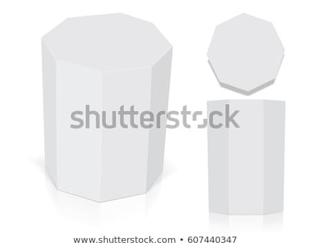 Cartão recipiente hexágono forma acondicionamento vetor Foto stock © pikepicture