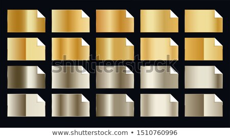 set of premium golden gradients in two shade styles Stock photo © SArts