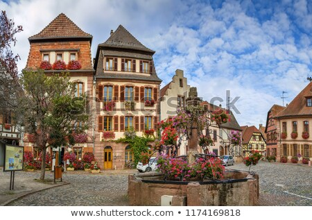 Square in Bergheim, Alsace, France Stock photo © borisb17