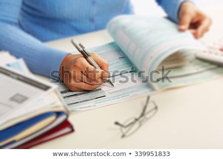Contabilidade registros financeiro ilustração 3d dobrador texto Foto stock © olivier_le_moal