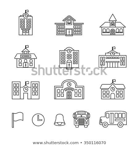 Pädagogisch Stelle Schule Vektor rot Farbe Stock foto © robuart
