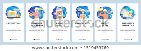 Rhinoplasty app interface template. Stock photo © RAStudio