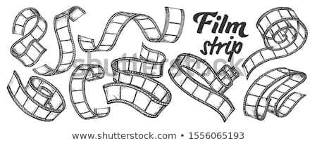 Film Strip For Camera Or Projector Ink Set Vector Stock photo © pikepicture