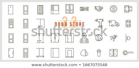 Vetro porta gestire vettore cromo elegante Foto d'archivio © pikepicture
