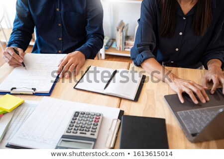 woman learn and teach tutor concept education helping each other Stock photo © snowing