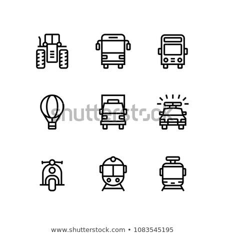 Transporte vehículo camión coche simple vector Foto stock © karetniy