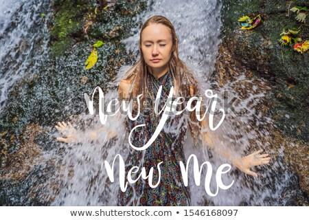 Nieuwjaar nieuwe me jonge vrouw toeristische heilig Stockfoto © galitskaya