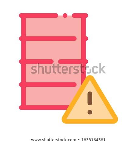 Baryłkę ikona wektora ilustracja podpisania Zdjęcia stock © pikepicture