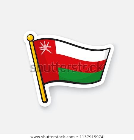 Umman bayrak el beyaz arka plan özgürlük Stok fotoğraf © butenkow