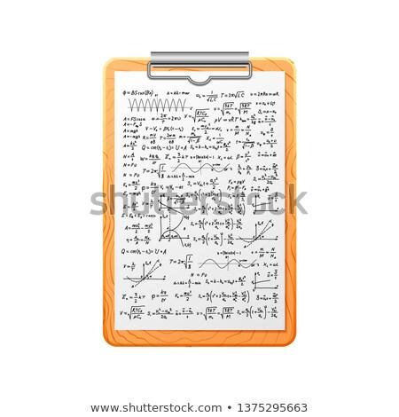 Gerçekçi ahşap karmaşık matematik formüller Stok fotoğraf © evgeny89