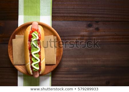 Hot Dog овощей Top мнение Сток-фото © karandaev