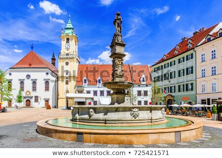 Hoofd- vierkante Bratislava Slowakije een best Stockfoto © borisb17
