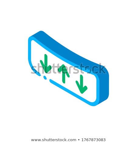 Shock Absorbing Mattress isometric icon vector illustration Stock photo © pikepicture