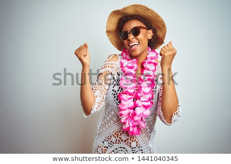Célébration tropicales lunettes de soleil célébrer vie vêtements Photo stock © KonArt