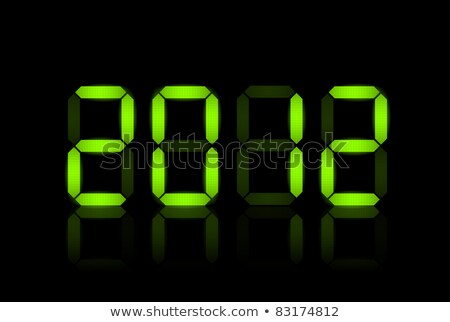 Vector New Year card 2012 - green neon numbers Stock photo © orson