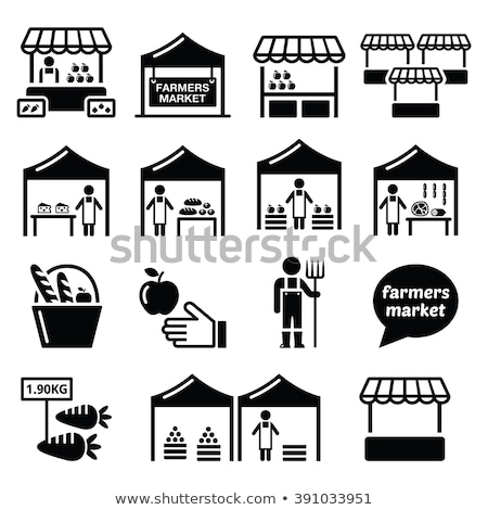 Food market icons Stock photo © sahua