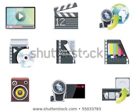Vectorvideopictogrammen Deel 1 Stockfoto © tele52