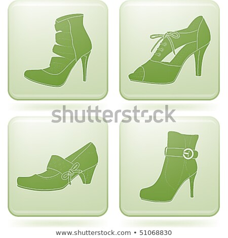 Olivine Square 2D Icons Set: Woman's Shoes Stock photo © Vectorminator
