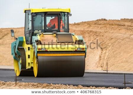 weg · wegenbouw · plaats · gebouw · stad · werk - stockfoto © melvin07