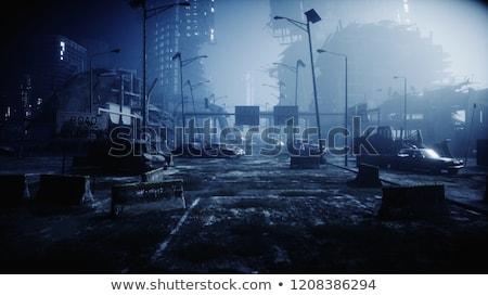 Urbanas apocalipsis tempestuoso nubes apocalíptico rojo Foto stock © sahua