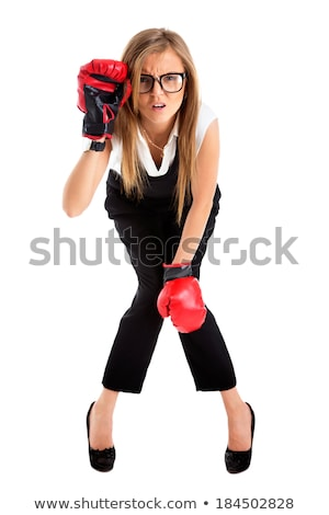 Defeated loser woman - business concept Stock photo © Maridav