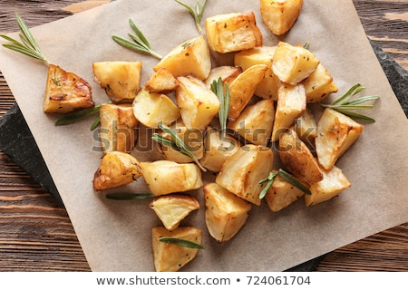 Edény vidék stílus pörkölt krumpli rozmaring Stock fotó © elly_l