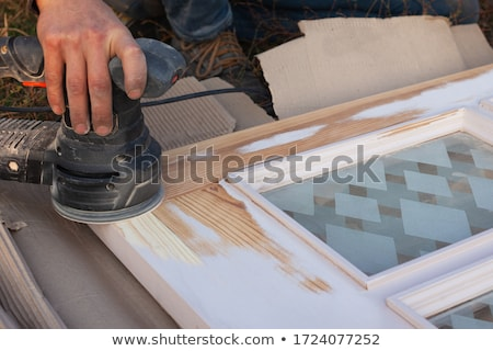 Painting a door Stock photo © Hofmeester