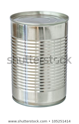 One Shiny Food Tin Can on White Stock photo © bobbigmac